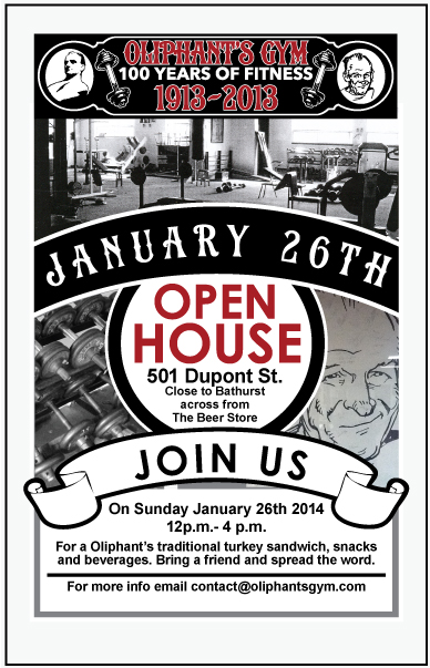 Oliphant's Gym Open House